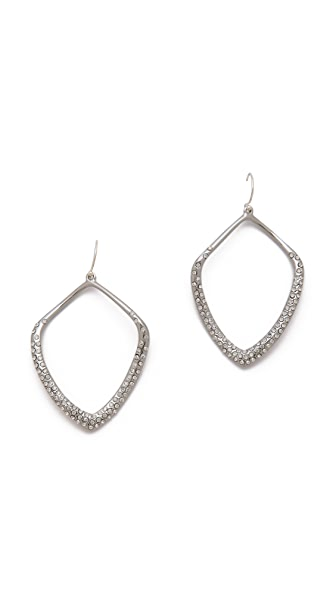 Alexis Bittar Large Pave Kite Orbit Earrings