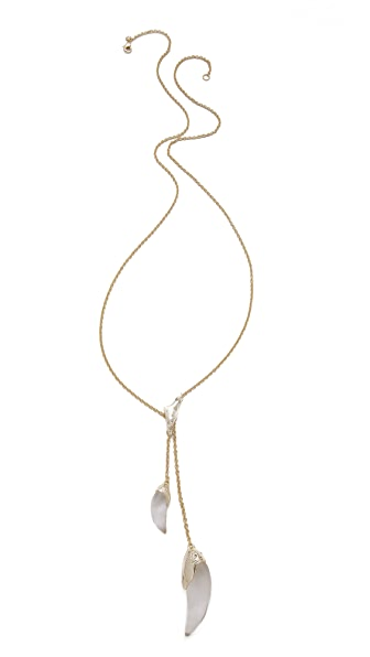 Alexis Bittar Lariat Sabre Tooth Pendant Necklace