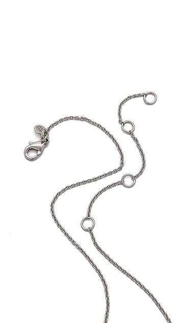 Alexis Bittar Pave Kite Orbit Pendant Necklace