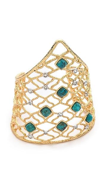 Alexis Bittar Mosaic Lace Cuff Bracelet