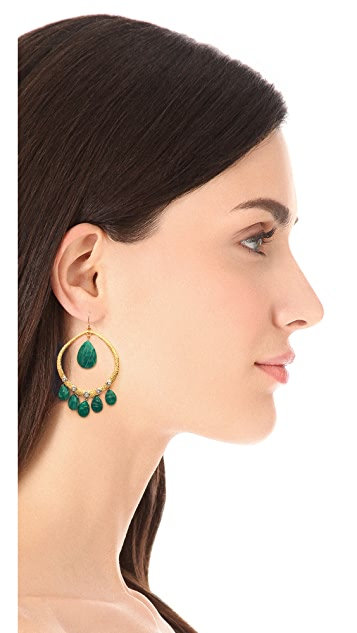 Alexis Bittar Mosaic Studded Teardrop Earrings