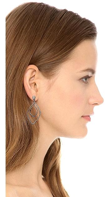 Alexis Bittar Linear Orbiting Pave Earrings