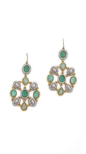 Alexis Bittar Crystal Encrusted Mosaic Earrings