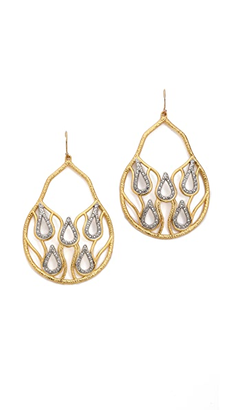 Alexis Bittar Aigrette Open Tear Crystal Earrings