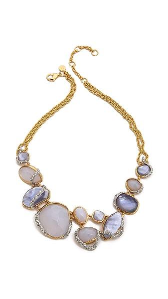 Alexis Bittar Multi Stone Encrusted Bib Necklace