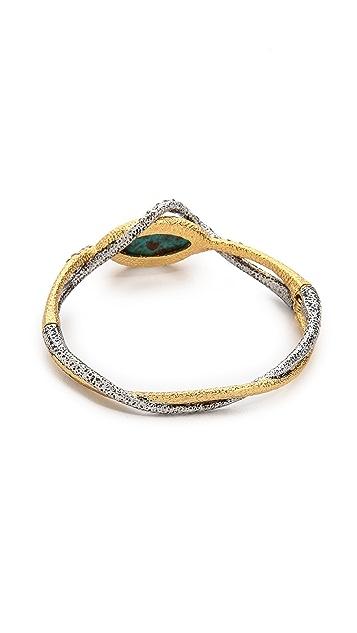Alexis Bittar Encrusted Vine Hinge Bracelet
