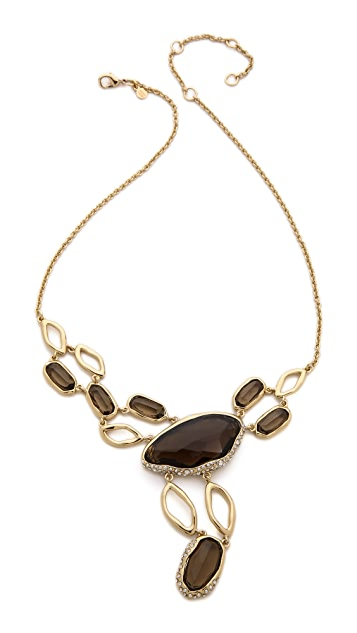 Alexis Bittar Multi Stone Y Link Necklace
