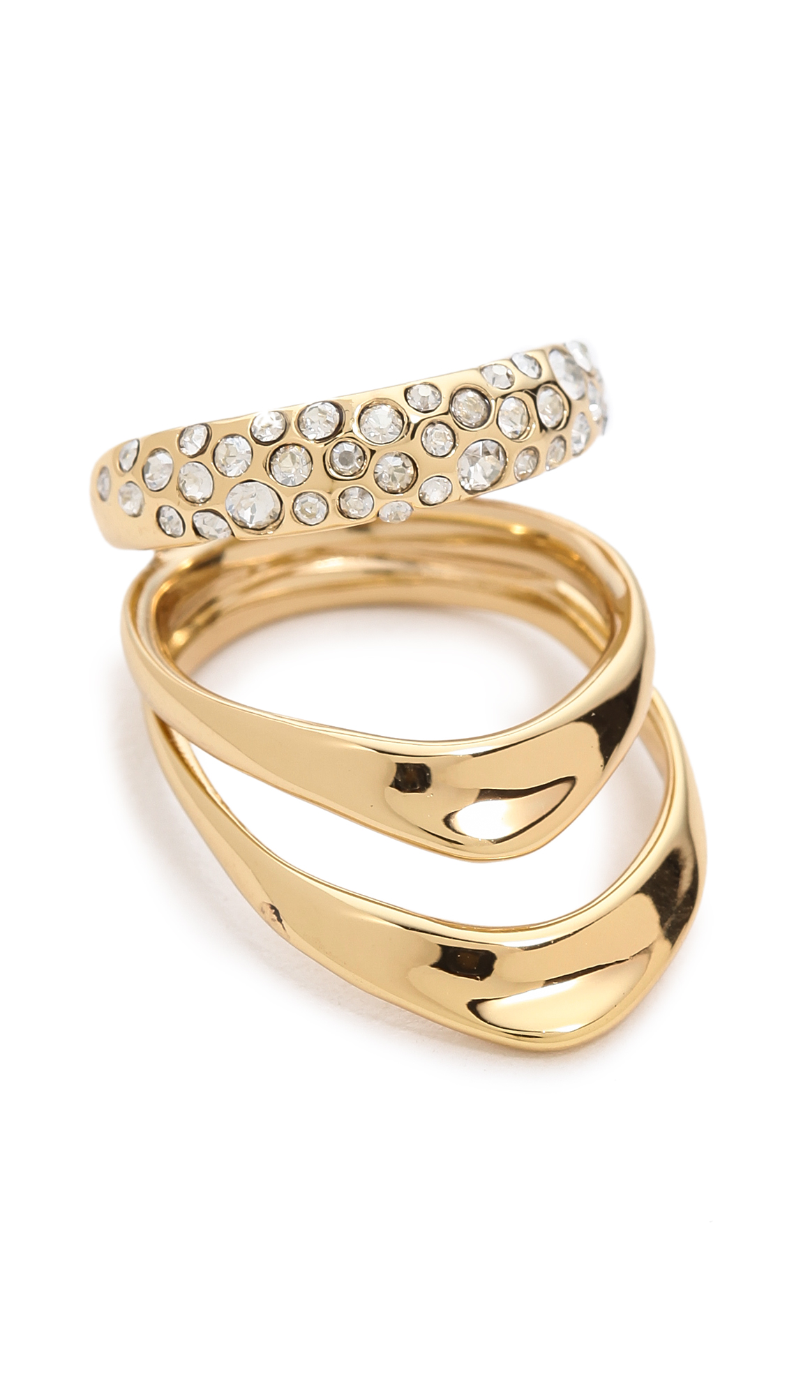 gold normal product gallery jewelry cluster lyst alexis bittar multi crystal row jagged ring miss rings havisham