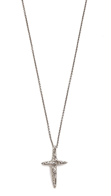 Alexis Bittar Liquid Cross Pendant Necklace