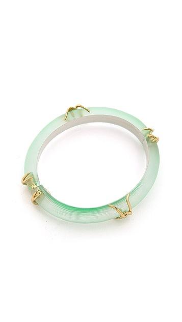 Alexis Bittar Liquid Metal X Motif Hinge Bracelet