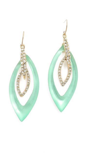 Alexis Bittar Pave Crystal Orbital Earrings
