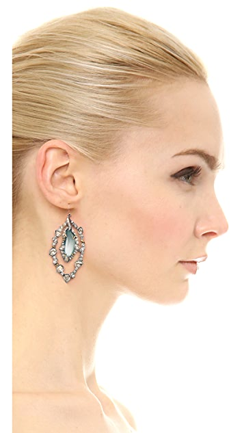 Alexis Bittar Jagged Edge Crystal Orbital Earrings