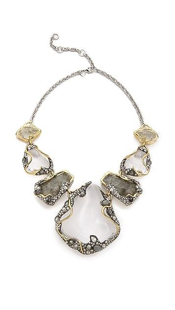 Alexis Bittar Vine Draped Pebble Bib Necklace