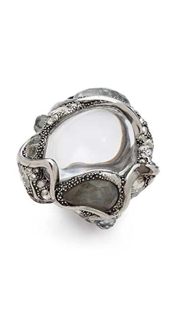 Alexis Bittar Crystal Pave Blister Cocktail Ring