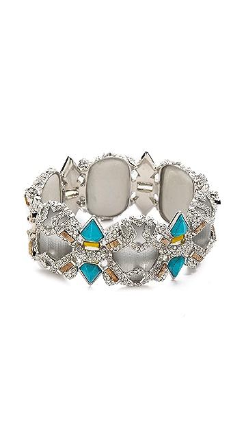 Alexis Bittar Crystal Baguette Open Hinge Bracelet