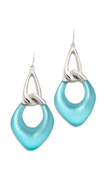 Alexis Bittar Liquid Metal Double Link Dangle Earrings