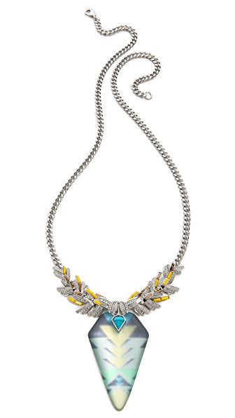 Alexis Bittar Wreathed Flint Pendant Necklace