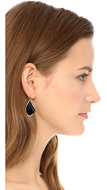 Alexis Bittar Infinity Banded Agate Earrings