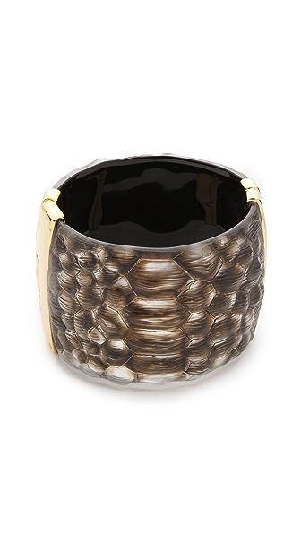 Alexis Bittar Crocodile Textured Liquid Hinge Bracelet