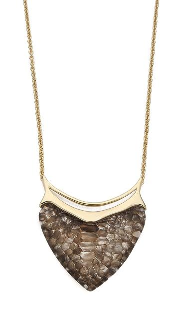 Alexis Bittar Crocodile Dagger Pendant Necklace