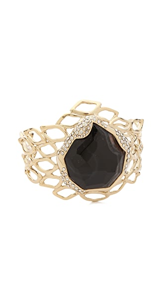 Alexis Bittar Aiguille Banded Agate Cuff Bracelet