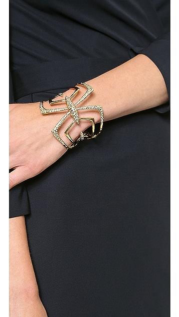 Alexis Bittar Encrusted Mirrored Hinge Bracelet