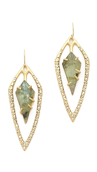 Alexis Bittar Encrusted Diamond Tear Earrings