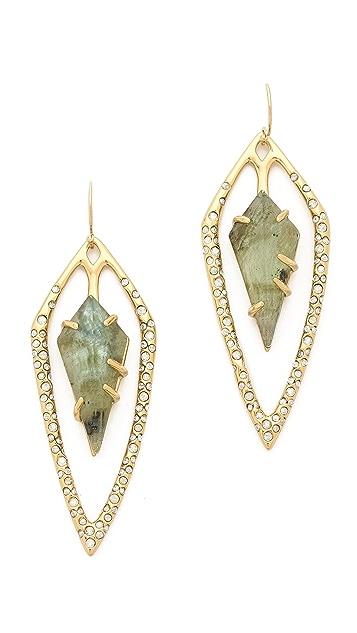 Alexis Bittar Encrusted Diamond Tear Earrings