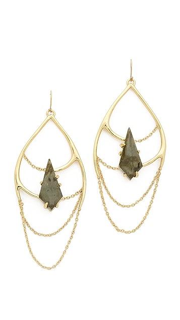 Alexis Bittar Draped Chain Earrings