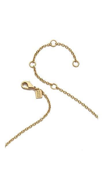 Alexis Bittar Geometric Linked Bib Necklace