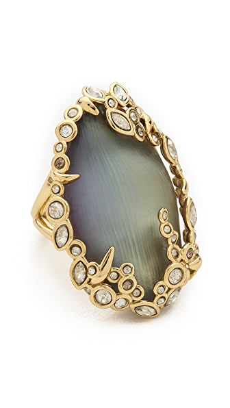Alexis Bittar Crystal Lace Cocktail Ring