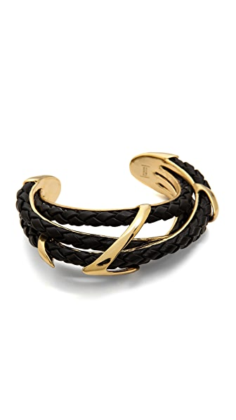Alexis Bittar Leather Orbital Cuff Bracelet