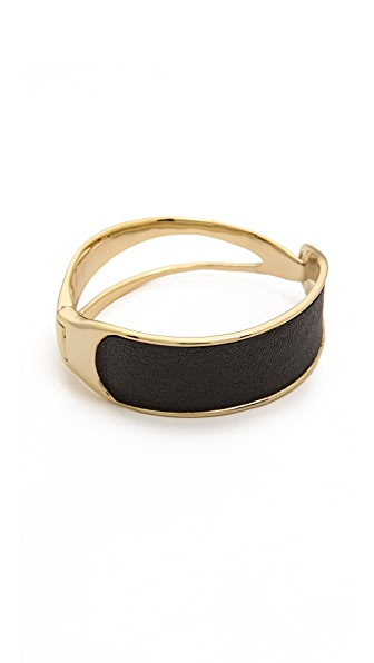 Alexis Bittar Leather Hinge Bracelet