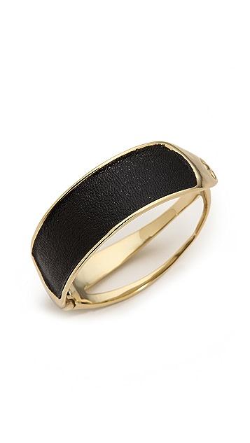 Alexis Bittar Leather Hinge Bracelet