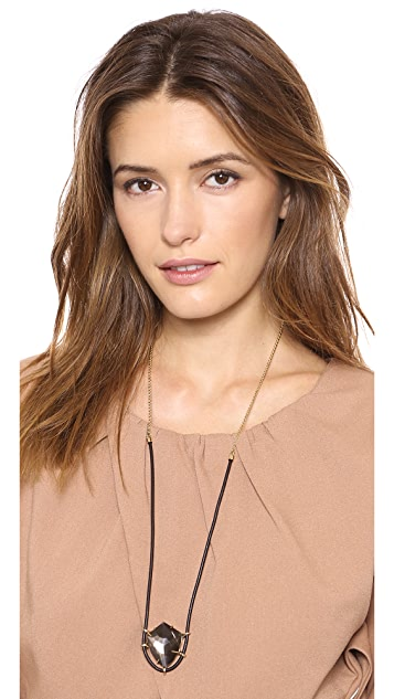 Alexis Bittar Leather Pendant Necklace