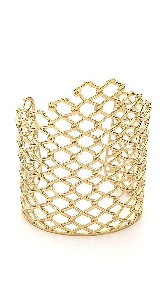 Alexis Bittar Asymmetrical Barbed Link Cuff Bracelet