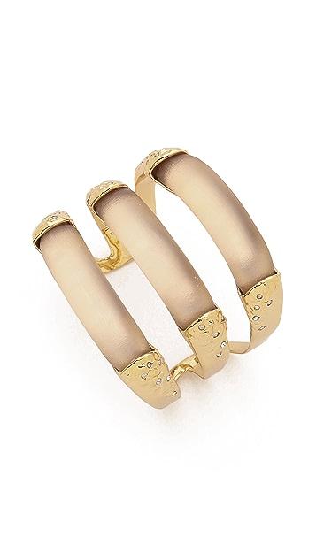 Alexis Bittar Crystal Embellished Stacked Cuff Bracelet