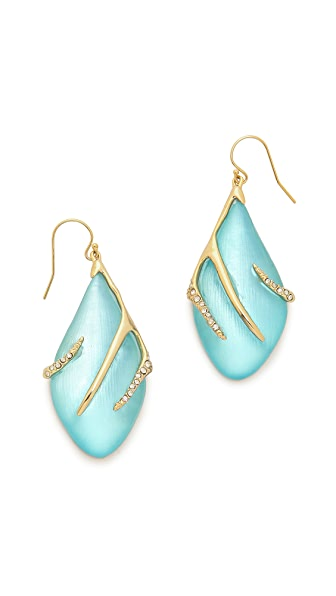 Alexis Bittar Crystal Embellished Sabre Wire Earrings