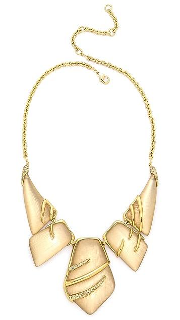 Alexis Bittar Crystal Embellished Sabre Bib Necklace
