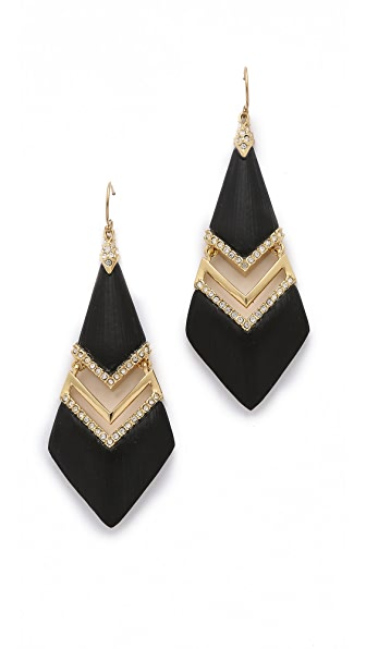 Alexis Bittar Encrusted Chevron Swinging Earrings