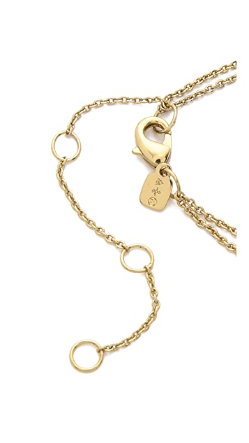 Alexis Bittar Jagged Marquis Pendant Necklace