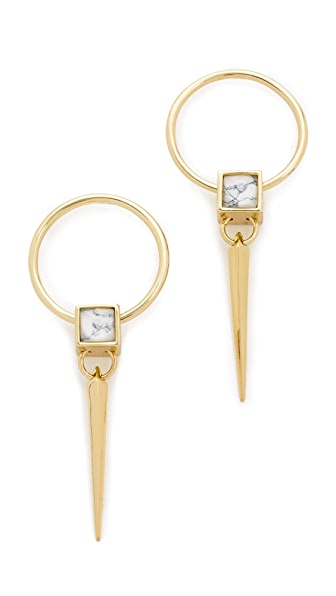 Alexis Bittar Geometric Square Spike Earrings