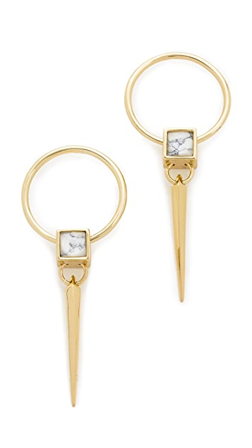 Alexis Bittar Geometric Square Spike Earrings