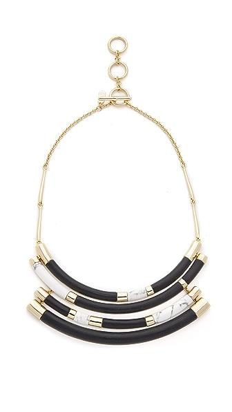 Alexis Bittar Color Block Crescent Bib Necklace