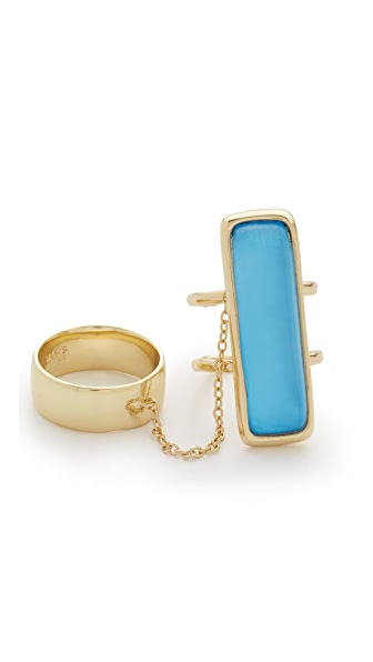 Alexis Bittar Elongated Double Band Ring Set