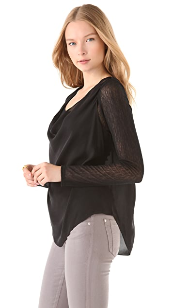 AIR by alice + olivia Silk Trapeze Top