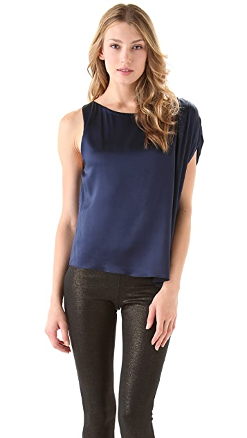 AIR by alice + olivia Asymmetrical Sleeve Top