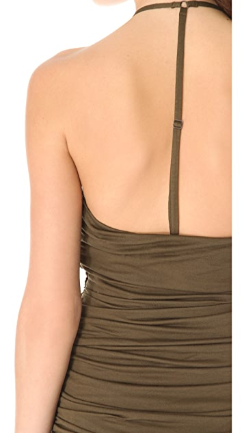 AIR by alice + olivia Ruched Y Back Dress