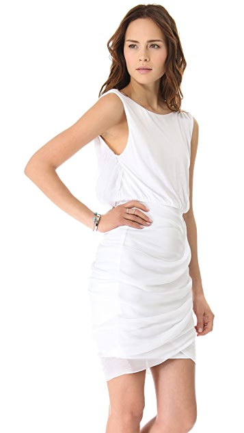 AIR by alice + olivia Draped Boatneck Dress