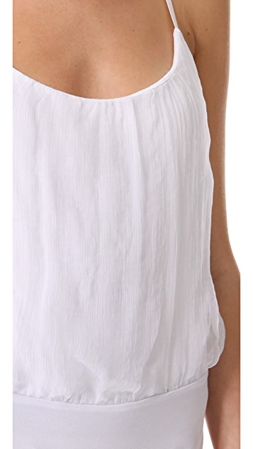 AIR by alice + olivia Shirred Tank Bodysuit